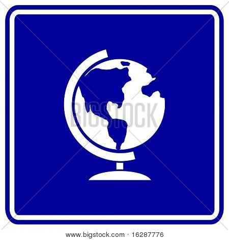 earth globe sign