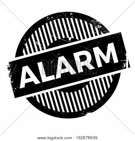 Alarm rubber stamp. Grunge design with dust scratches. Effects can be easily removed for a clean, crisp look. Color is easily changed.