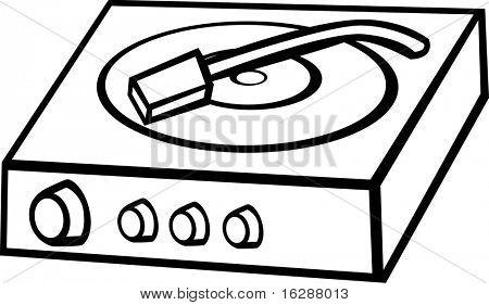 record disc player