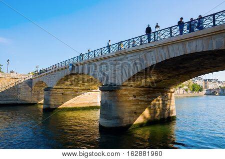 Pont De L'archeveche In Paris, France