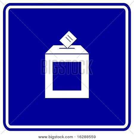 ballot box sign