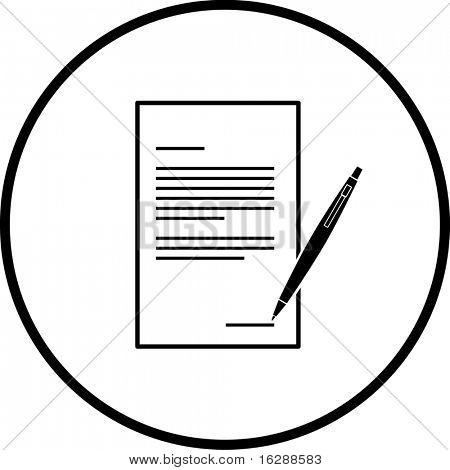 contract or legal form symbol