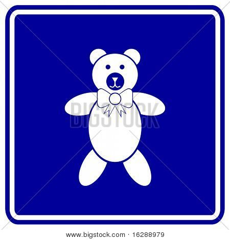 plush bear sign