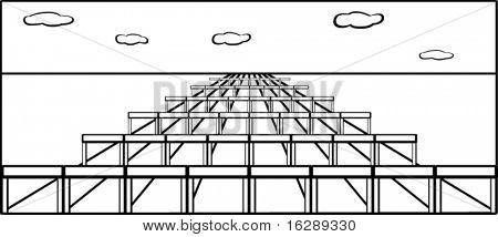 long hurdles track