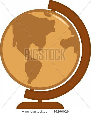 antique colors earth globe