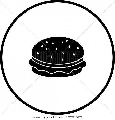 hamburger or cheeseburger symbol
