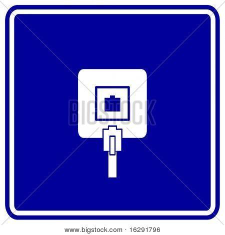 phone jack box sign