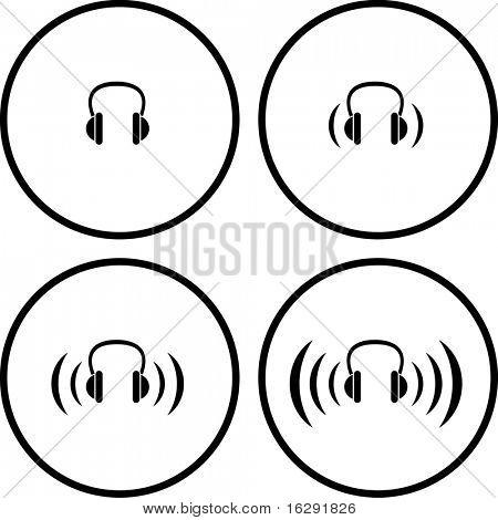 headphones symbols
