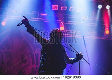 TOLMIN, SLOVENIA - JULY 26TH: SWEDISH BLACK METAL BAND MARDUK PERFORMING AT METALDAYS FESTIVAL ON JULY 26TH, 2016 IN TOLMIN, SLOVENIA