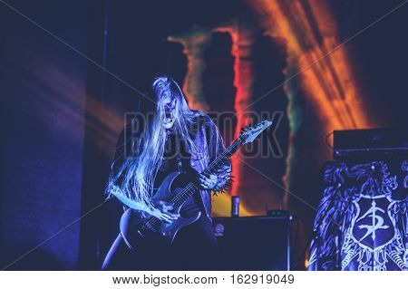 TOLMIN, SLOVENIA - JULY 26TH: SERBIAN BLACK METAL BAND THE STONE PERFORMING AT METALDAYS FESTIVAL ON JULY 26TH, 2016 IN TOLMIN, SLOVENIA