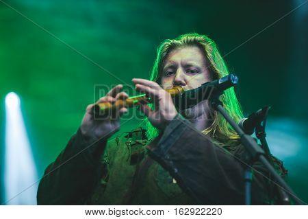 TOLMIN, SLOVENIA - JULY 26TH: RUSSIAN PAGAN METAL BAND ARKONA PERFORMING AT METALDAYS FESTIVAL ON JULY 26TH, 2016 IN TOLMIN, SLOVENIA