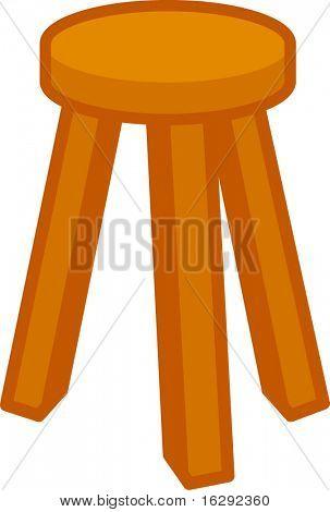 wooden stool seat