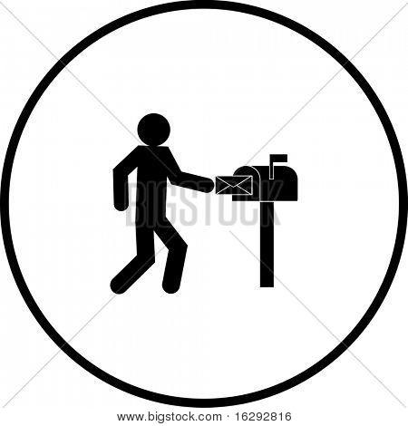 recoger símbolo de correo