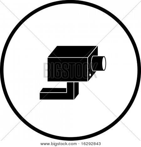 símbolo de câmera do circuito fechado televisão sistema segurança