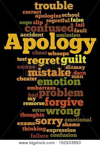 Apology, Word Cloud Concept 3