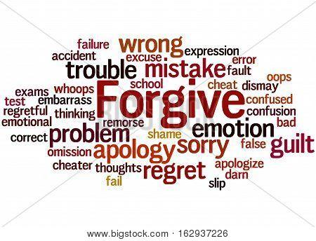 Forgive, Word Cloud Concept