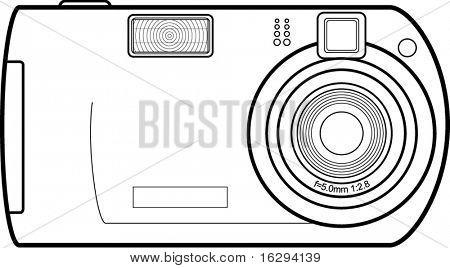 Digitalkamera-Strichzeichnungen