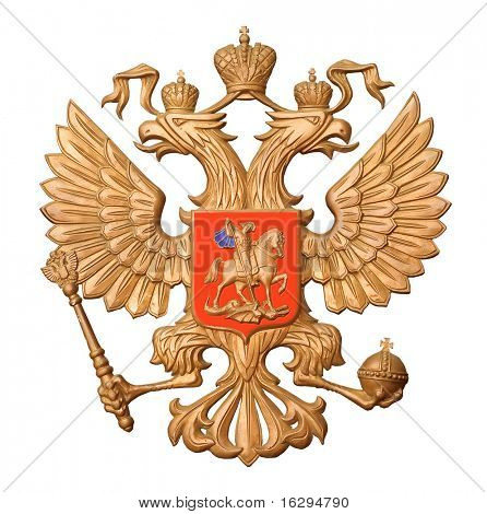 The gold arms of Russia