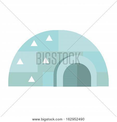 Igloo ice house eskimo vector illustration. Pole arctic landscape season warm snow architecture. Building freezing scene icehouse night accommodation.