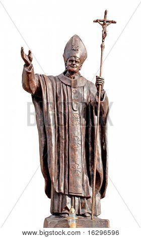 Statue Pope Ioan Pavel 2 in Vitebsk