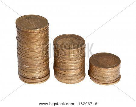 Considerable quantity of copper copecks of the USSR