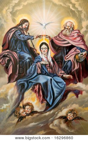 God the son, god the father and the mother of god