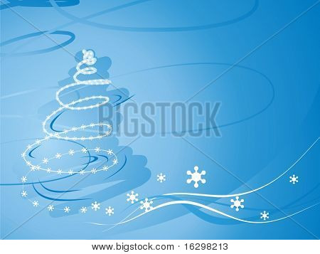 Abstract christmas tree (background)
