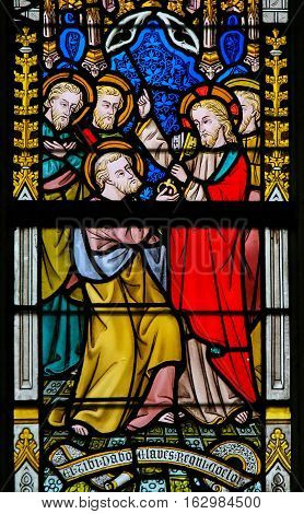 Stained Glass - Jesus And Saint Peter