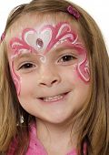picture of face painting  - Pretty girl with creative artistic face painting - JPG