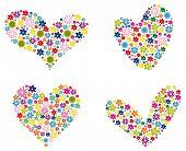Постер, плакат: сердце с цветами