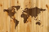 Wooden Map poster
