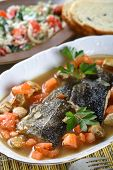 Cooked Cod With Vegetables poster