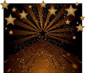 brown background with stars