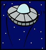 picture of ovni  - ufo ship flying in the outer space - JPG