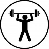 pic of lifting weight  - gym weight lifting symbol - JPG