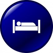 image of goodnight  - sleeping in bed button - JPG