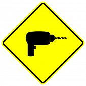 electric hand drill sign