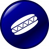 picture of hot dog  - hot dog button - JPG