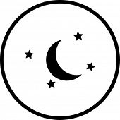 picture of wane  - moon and stars symbol - JPG
