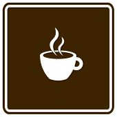 hot beverage in a cup sign