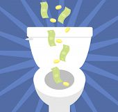 foto of septic  - throwing money down the toilet - JPG