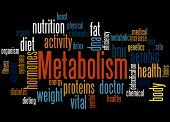 Metabolism, Word Cloud Concept 4 poster
