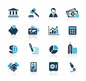 Business & Finance Web Icons / / azuurblauwe serie