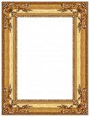 Постер, плакат: Золотая рамка с декоративным рисунком