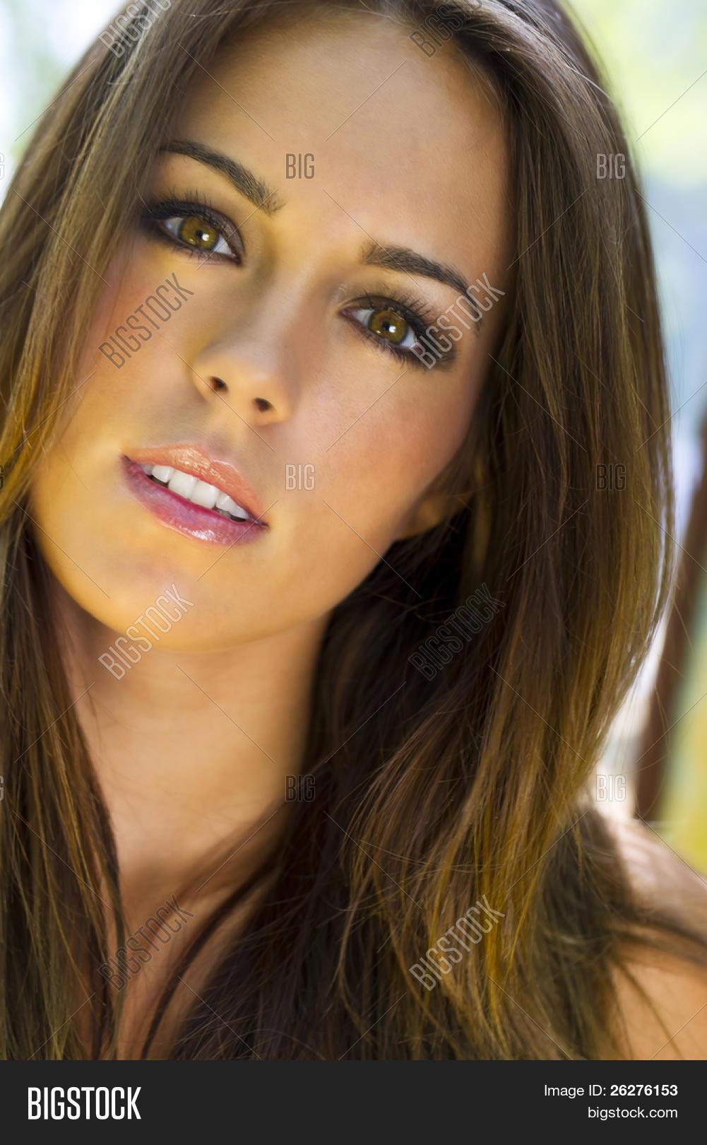 Brunette Model Headshot Stock Photo & Stock Images