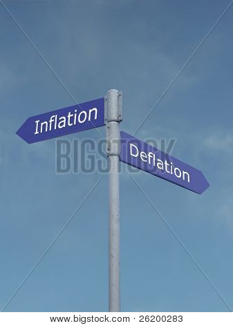 Inflation - deflation signpost