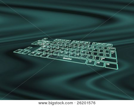 Glowing touch keyboard