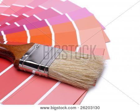 Pinsel auf Array von Farbe-Farbfelder