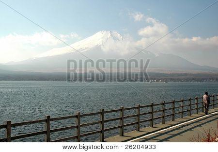 View of Mount Fuji from Yamanaka Lake