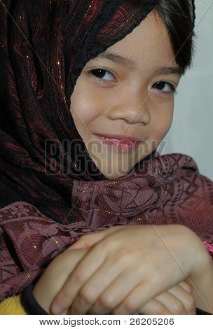 Little girl in veil